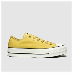 Converse Yellow Chuck Taylor All Star Lift Ox Trainers