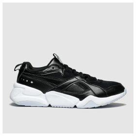 Puma Black & White Nova 2 Trainers