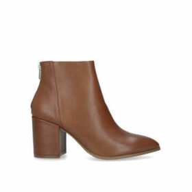 Steve Madden Jillian - Tan Block Heel Ankle Boots