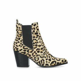 Steve Madden Patricia-l - Leopard Print Block Heel Ankle Boots