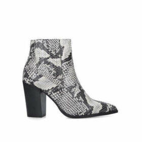 Carvela Sizzle - Snake Print Block Heel Ankle Boots