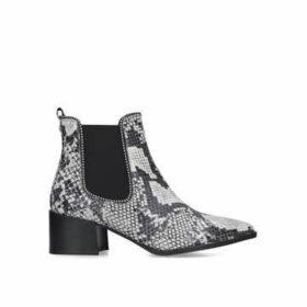 Carvela Spire - Snake Print Embellished Block Heel Ankle Boots