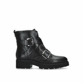 Steve Madden Hoofy - Black Studded Biker Boots