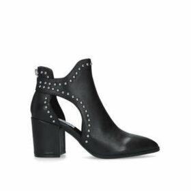 Steve Madden Justice - Black Studded Block Heel Ankle Boots