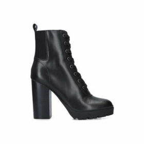 Steve Madden Latch - Black Block Heel Platform Ankle Boots