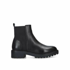 Steve Madden Gliding - Black Chunky Ankle Boots