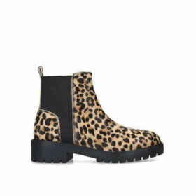 Steve Madden Gliding - Leopard Print Chunky Ankle Boots