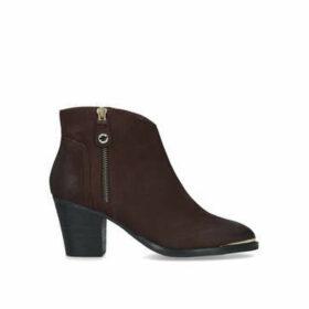 Steve Madden Francy - Wine Block Heel Ankle Boots