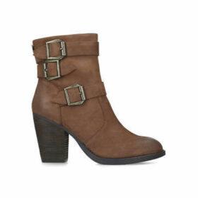 Steve Madden Ya - Tan Block Heel Boots