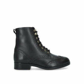 Aldo Glorfidien - Black Flat Lace Up Ankle Boots