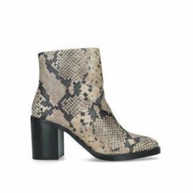 Steve Madden Tenley - Snake Print Block Heel Ankle Boots