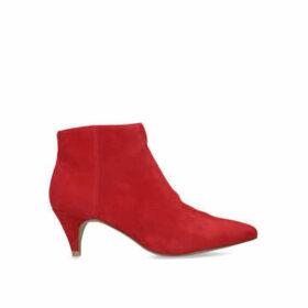 Steve Madden Lucinda - Red Kitten Heel Ankle Boots