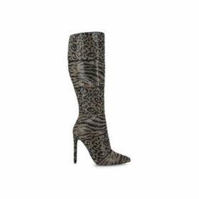 Steve Madden Winner - Leopard Print Stiletto Heel High Leg Boots