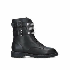 Kurt Geiger London Seth - Black Embellished Biker Boots