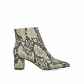 Kurt Geiger London Burlington Ankle Boot - Snake Print Block Heel Ankle Boots