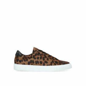 Kurt Geiger London Donnie Sneaker - Men's Leopard Print Lace Up Trainers
