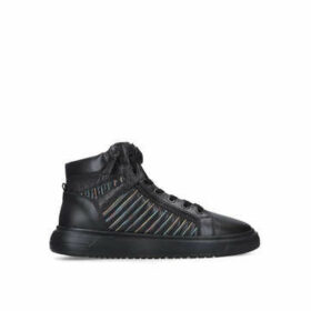 Kurt Geiger London Jacobs - Men's Black Trainers With Rainbow Stitching