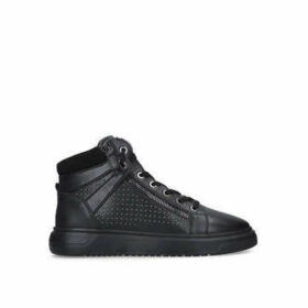 Kurt Geiger London Jacobs - Men's Black Studded Trainers With Eagle Embellishment