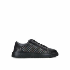 Kurt Geiger London Jacobs Sneaker - Men's Black Trainers With Rainbow Stitching