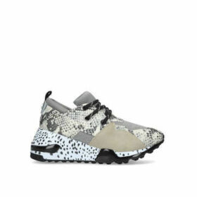 Steve Madden Cliff - Snake Print Chunky Trainers