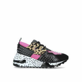 Steve Madden Cliff-s - Pink And Black Animal Print Chunky Trainers