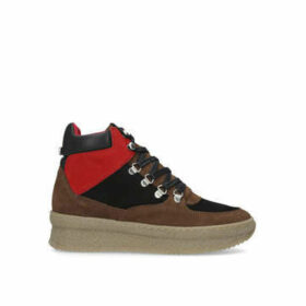 Steve Madden Pandora - Brown And Red High Top Trainers
