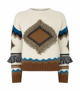Fringe-Trim Baita Sweater