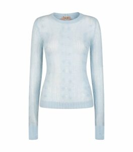 Mohair-Wool Cable-Knit Sweater