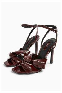 Womens Rumba Burgundy Patent Sandals - Burgundy, Burgundy