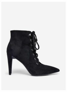 Womens Black 'Alora' Lace Up Boots- Black, Black