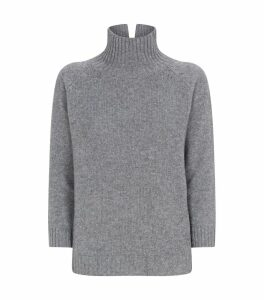 Split Turtleneck Cashmere Sweater
