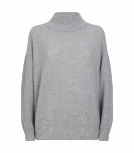 Lurex Funnel Neck Sweater