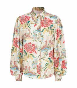 Floral Print Crepe Shirt