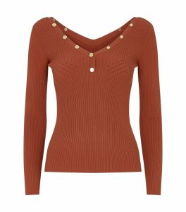 Knitted Press-Stud Trim Top