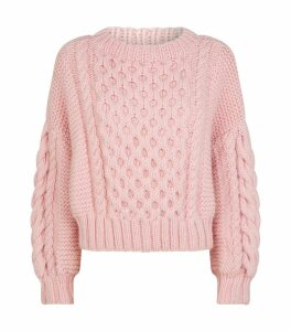 Wool Aran-Knit Sweater
