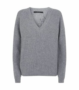 Jayla Wool-Cashmere V-Neck Sweater