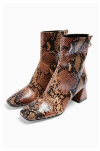 Womens Breeze Square Toe Boots - Natural, Natural