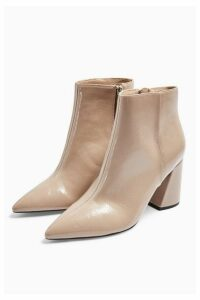Womens Hackney Point Boots - Taupe, Taupe