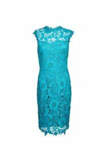Womens **Showcase Teal 'Erica' Lace Dress- Blue, Blue