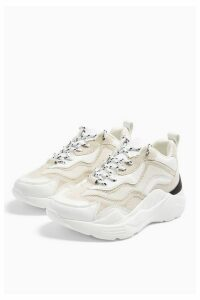 Womens Cancun Chunky Trainers - Off White, Off White