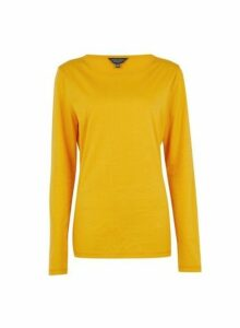 Womens **Tall Yellow Long Sleeve Top, Yellow