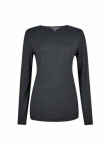 Womens **Tall Grey Long Sleeve Top- Grey, Grey