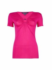 Womens **Tall Pink Ring Top, Pink