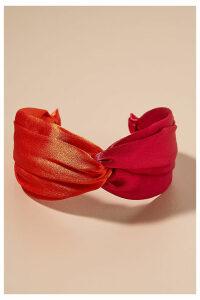 Colourblocked Twisted-Top Headband - Pink