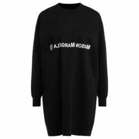 Mm6 Maison Margiela  Maxi sweater in black wool and cotton  women's Sweater in Black