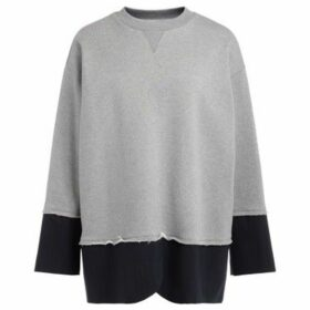 Mm6 Maison Margiela  Sweatshirt in gray cotton and pinstriped dagger  women's Sweater in Grey