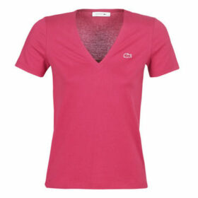 Lacoste  TF8908  women's T shirt in Pink