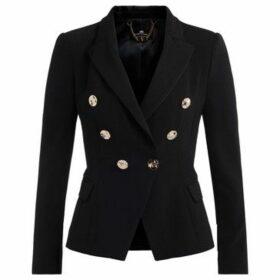 Elisabetta Franchi  Giacca  nera a doppiopetto con bottoni golden  women's Jacket in Black