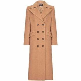 Anastasia  Camel Womens Double Breasted Cashmere Coat  women's Coat in Beige