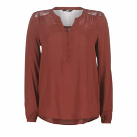Only  ONLEDDIE  women's Blouse in Bordeaux